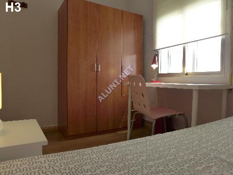 Pokój dla studentów całkowicie umeblowany z internetem, znajdujący się  w Vicálvaro URJC w  Madrid tylko za 317 euro (5H3, foto favorita)